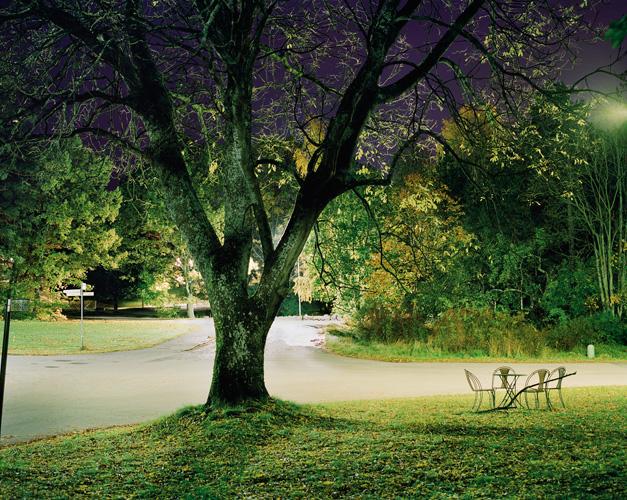 """© Hans Malm Titel: """"Tallvägen"""". Plats/Datum: Gustavsberg, 2008 Bildmått: 31x24 cm Teknik: Arkivbeständig pigmentbläckutskrift, färg Montering: Vit träram med passepartout och glas Upplaga: 10 Signerad: Ja  Pris: SEK 5700"""