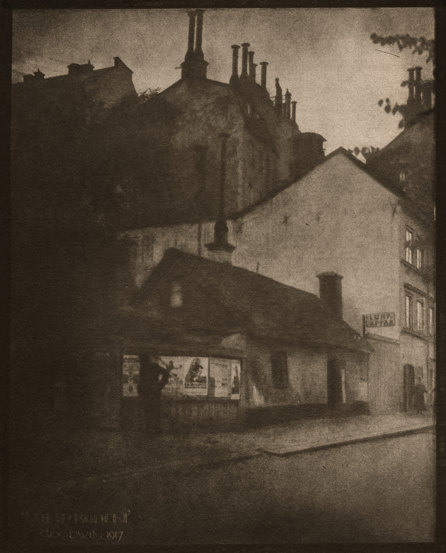 """57. Henry B Goodwin (1878-1931). Lumpboden 1917. Från serien """"Vårt vackra Stockholm"""". Utropspris: 5 000:-  Bildmått: 20×16 cm. Fotogravyr, edition 200 ex."""