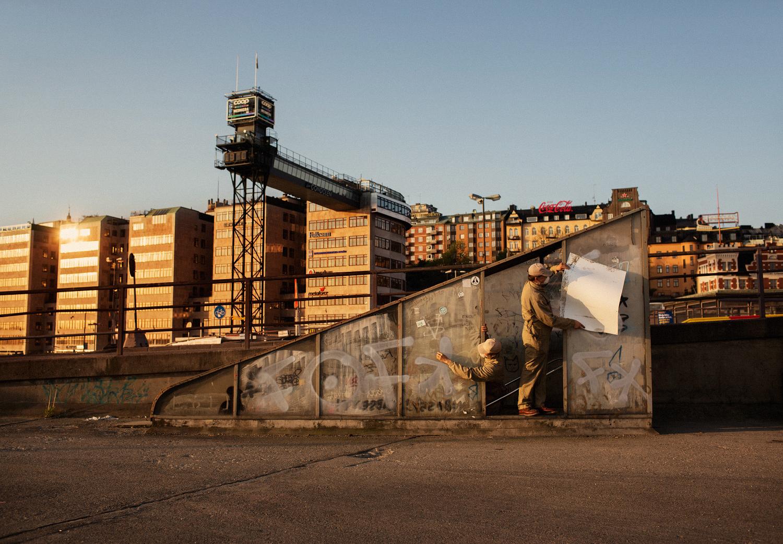 © Pohl, Johnsen, Walström. Titel: Requiem for Slussen 2014.  Bildmått: 60×40 cm, monterad på aluminium Teknink: C-print. Upplaga: 1/9. Signerad SX70 Europe. Pris: SEK 5 000